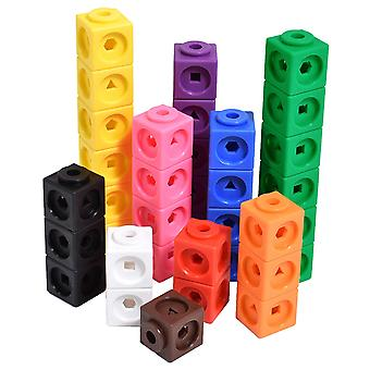 Math Cubes Set Of 100 , Linking Cubes For Early Math , For Aged 3 Up