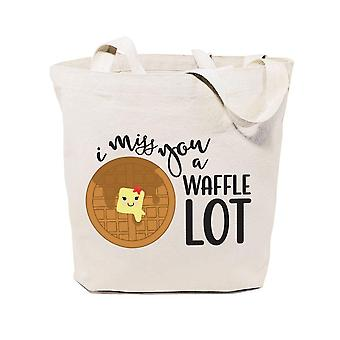 I Miss U Waffle A Lot-cotton Canvas Tote Bag