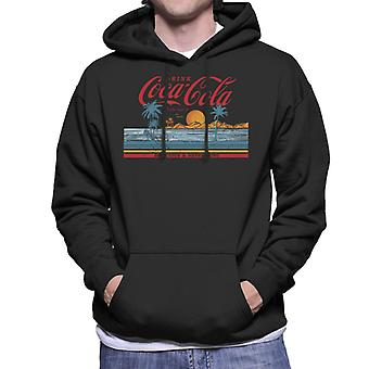 Coca Cola Delicious And Refreshing Ocean Waves Men's Hooded Sweatshirt