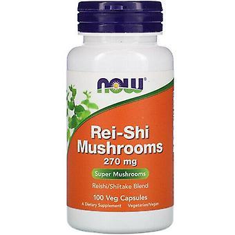 Now Foods, Rei-Shi Mushrooms, 270 mg, 100 Veg Capsules