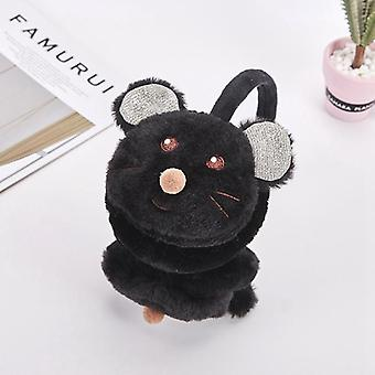 Headphones Fashion Faux Fur Cute Little Mouse Kids Earmuffs Winter Accessories