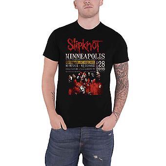 Slipknot T Shirt Minneapolis 2009 Poster new Official Eco Mens Black