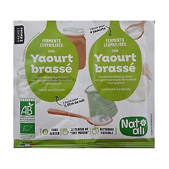 Gær til omrørt yoghurt dessert 2 pakker 6g