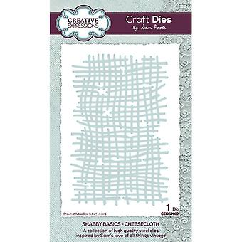 Creative Expressions Shabby Basics Collection Cutting Dies - Kaasdoek