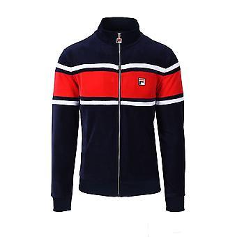 Fila Vintage Slane Velour Track Jacket Peacoat/red/white
