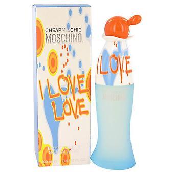 I Love Love Eau De Toilette Spray By Moschino 3.4 oz Eau De Toilette Spray