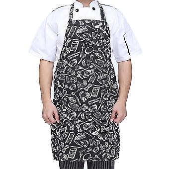 Säädettävä puolipitkä aikuinen esiliina raidallinen hotellille / ravintolalle Chef Waiter /