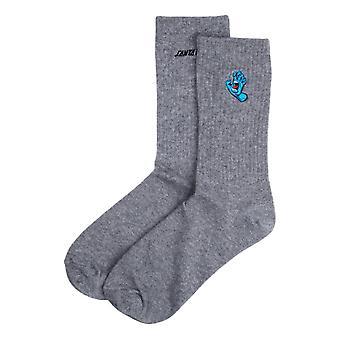 Santa Cruz Screaming Mini Hand Socks - Athletic Heather