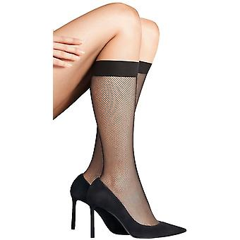 Falke Net Knee High Socken - Zigarre braun