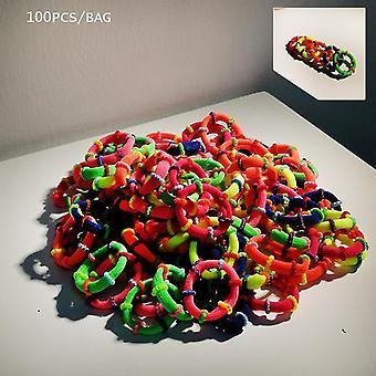 50/100pcs Fascia colorata Piccoli elastici Fasce per capelli Scrunchie Gomma
