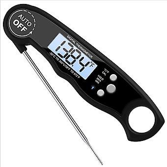 Digital Thermometer -50°c To 300°c Fast Read Backlight Lcd Waterproof Foldable Probe Auto Off For Bbq Milk Turkey Water