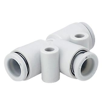 SMC Kq2 pneumatische Tee buis-naar-Tube Adapter, Push In 10 Mm
