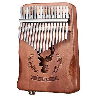 Kalimba Thumb Piano 17 Keys Electric Box Eq Portable Musical Instrument For Performance