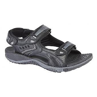 PDQ Gage Mens Sporty Touch-fasten Sandals Black