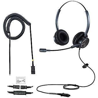 FengChun Binaural Deskphone Festnetztelefon Headset mit NC-Mikrofon RJ9-Stecker Nur fr Cisco