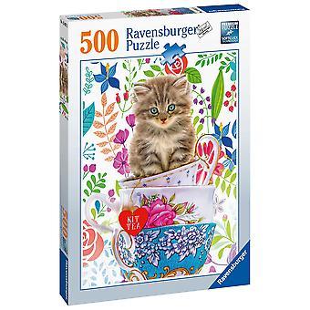 Ravensburger Puzzle Teacup Kitty 500 pezzi