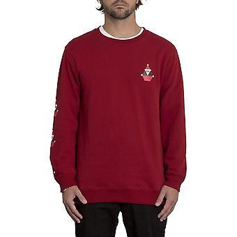 Volcom Santastone Sweatshirt in diep rood