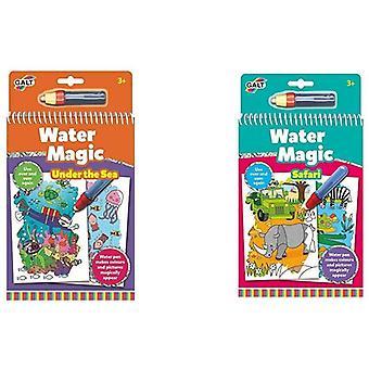 FengChun WasserMagie unter dem Meer und Wasser Magie Safari, Malbücher für Kinder Bundle