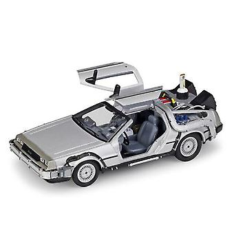 1:24 DMC DeLorean Back to the Future Car Static Die Cast Vehicles Collectible Model Car Toys(Silver)