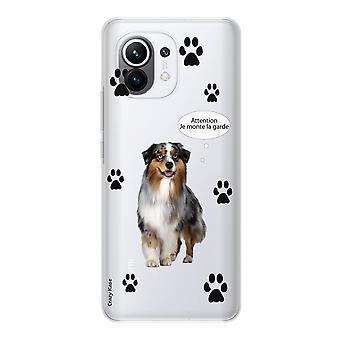 Hülle für Xiaomi Mi 11 Weich Silikon 1 Mm, Australischer Hund Schäferhund