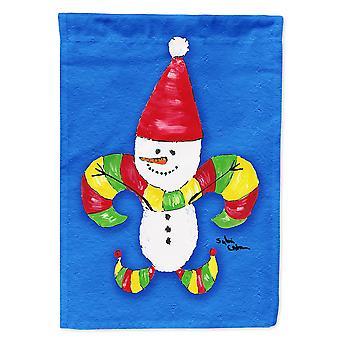 Caroline's Treasures 8504Gf Pupazzo di neve di Natale Fleur De Lis Flag, Piccolo, Multicolore