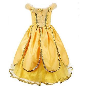 130Cm noel partisi fantezi kostüm deluxe prenses kızlar x1630 için giyinmek