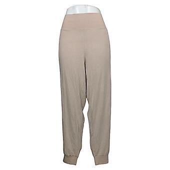 "DG2 by Diane Gilman Women's Pants Reg ""DG Downtime"" Jogger Beige 741054"
