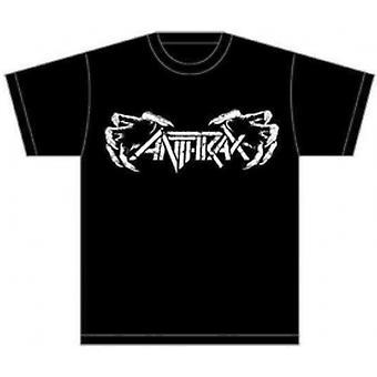 Anthrax Death Hands Mens Black T-Shirt: Medium