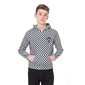 Hype Childrens/Kids Checkerboard Crest Pullover Hoodie