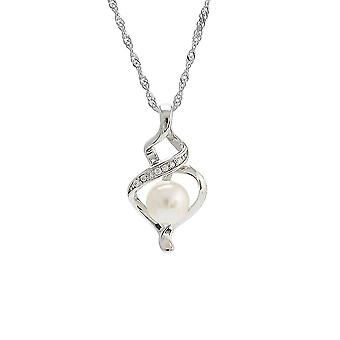 Women Necklace S925 Pearl Pendant Clavicle Chain For Party
