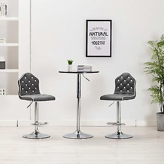 vidaXL Барный стул Серая синтетическая кожа