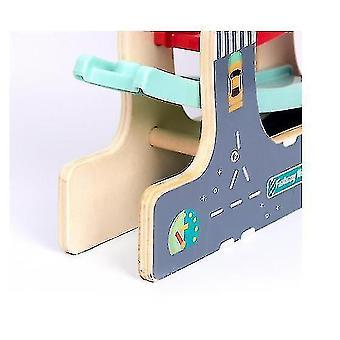 Giocattoli da pista rampa con mini auto in legno per bambini e bambini (GRUPPO1)