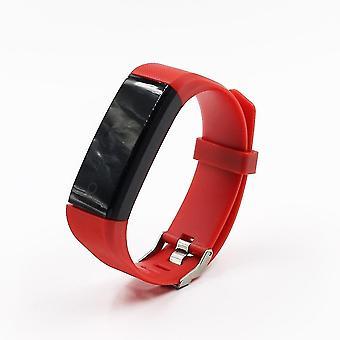 Id115 Plus digitale ure, Løbesport Watch (Rød)