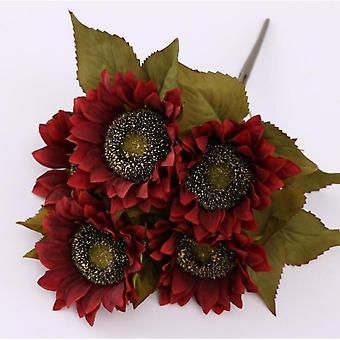 5 Heads Artificial Flowers Sunflowers Plastic Flowers Decoration Fake Flower Loggerhead