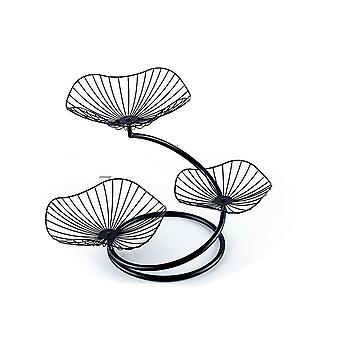 Nordic fruit plate creative modern living room home three-layer fruit plate simple iron multi-layer