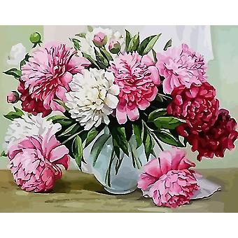 Diy Flowers Canvas Pictures Oil Painting For Living Room Wall Art And Home