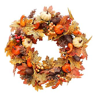 50cm fall simulation garland, Halloween, Christmas, Easter, Thanksgiving, indoor and outdoor ornaments(Yellow)