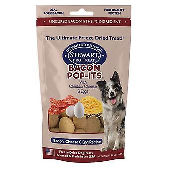 Stewart Bacon Pop-Its Bacon, Cheese, Egg Recipe Freeze Dried Dog Treat - 5.8 oz