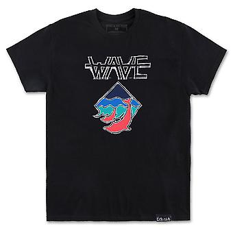 Pink Dolphin Wave T-Shirt Black