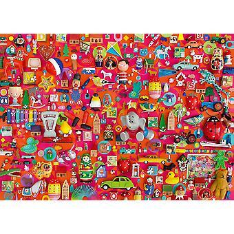 Schmidt Shelley Davies Vintage leksaker pussel (1000 stycken)