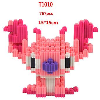 Pink Vertical Ear Stitch Children's Educational Development Intelligence Toy Plastic Diamond Small Particle Building Block 3d Assembly Model