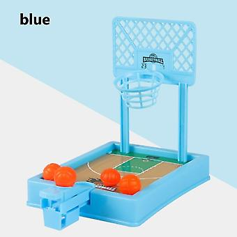 Mini Basketball Sport 2 Player Game Hoop Shooting Stand Toy Educational For Children Finger Basketball Shooting Family Game Toy Green Blue