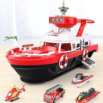 Toy cars kids toys simulation track inertia boat diecasts toy vehicles with music story light toy ship model