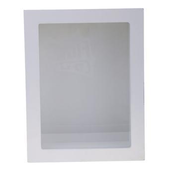 透明なガラスカバー付き木製フレームボックスドライフラワードールDIY作る白い7.8 X 7.2 X 22.8 cm