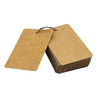 5kpl Mini Notebook Kraft Tyhjä Sivu Tasku Muistio Flipbooks Pieni Notebbook