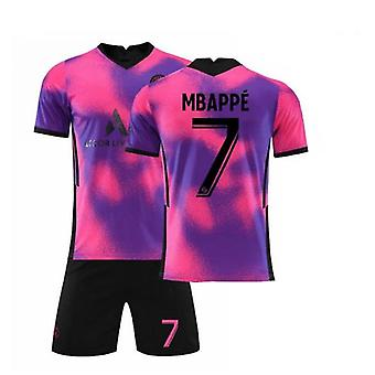Mbappe 7 Jersey 2021-2022 New Season Paris Soccer T-shirts Jersey Set For Kids/youths