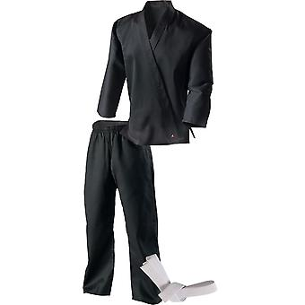 Century Kid's 7 oz. Middleweight Student Uniform with Elastic Pant - Black