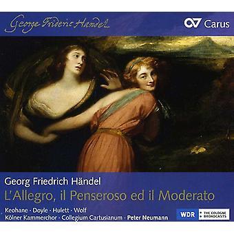 G.F. Handel - Georg Friedrich H Ndel: L'Allegro, Il Penseroso Ed Il Moderato [CD] USA import