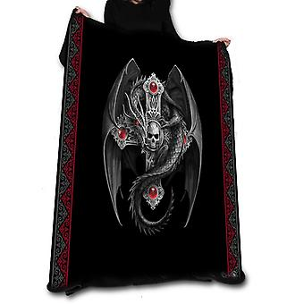 Gothic dragon fleece blanket / throw / tapestry  by anne stokes