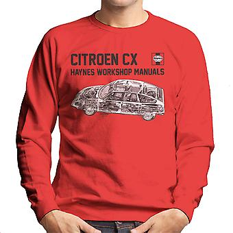 Haynes Workshop Manual 0528 Citroen CX Black Men's Sweatshirt